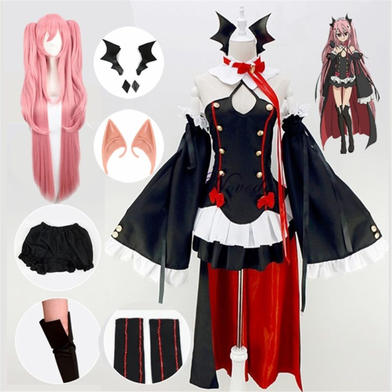 Seraph Of The End Owari no Seraph Krul Tepes Cosplay Costume Uniform Wig Cosplay Anime Witch Vampire Halloween Costume For Women 1