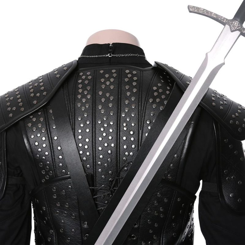 Fast Shipping Anime Geralt Cosplay Witch Costume women autumn winter clothes men coat Halloween Carnival Costume Christmas gift 5