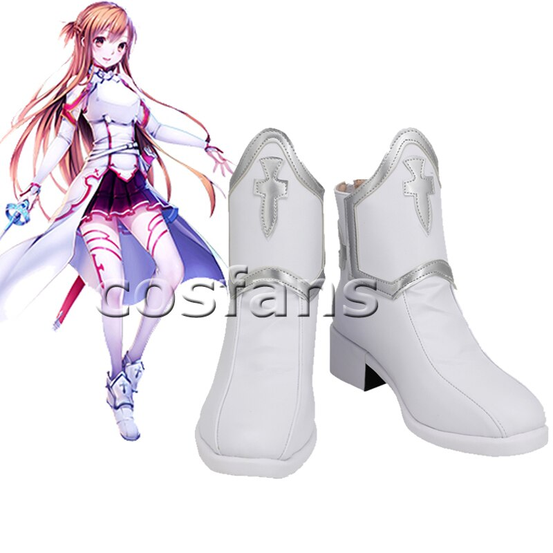 Sword Art Online Asuna Yuuki Cosplay Costumes Uniform for Halloween Party Costume SAO Asuna Battle Suit Outfits with Wig Shoes 6