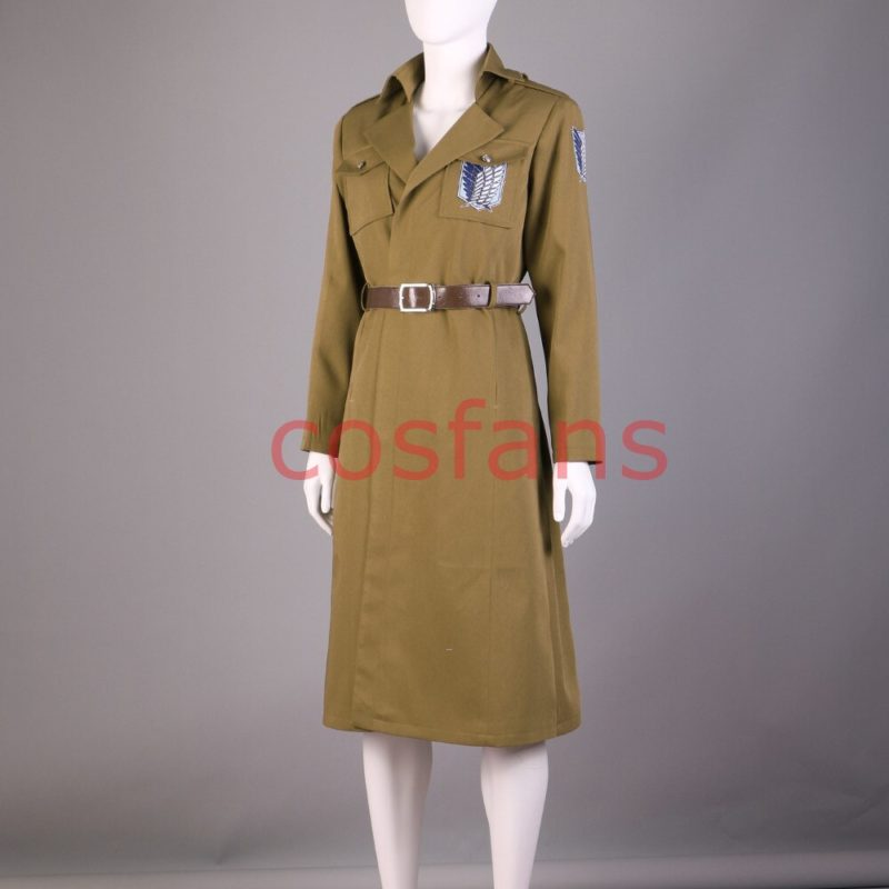 Attack on Titan Season 3 Eren Cosplay Costume Scouting Legion Soldier Officer Uniform Adult Men Halloween Trench Clothing Wigs 3