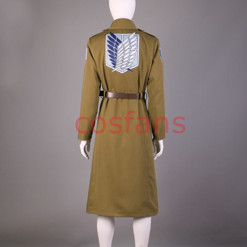 Attack on Titan Season 3 Eren Cosplay Costume Scouting Legion Soldier Officer Uniform Adult Men Halloween Trench Clothing Wigs 4