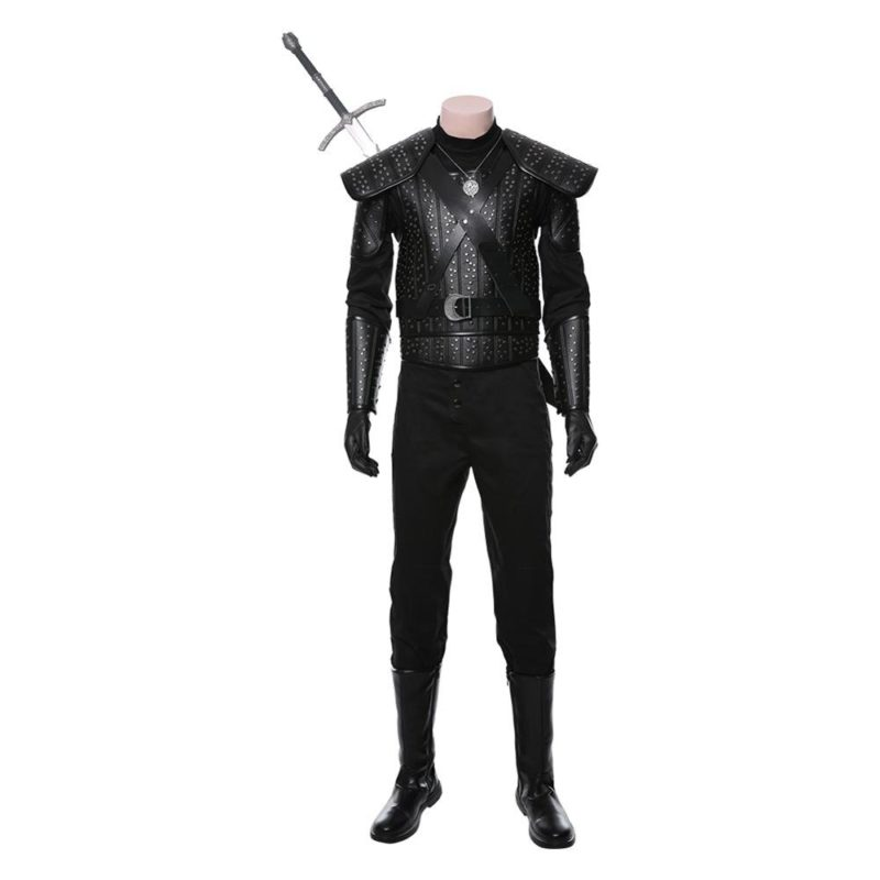 Fast Shipping Anime Geralt Cosplay Witch Costume women autumn winter clothes men coat Halloween Carnival Costume Christmas gift 4