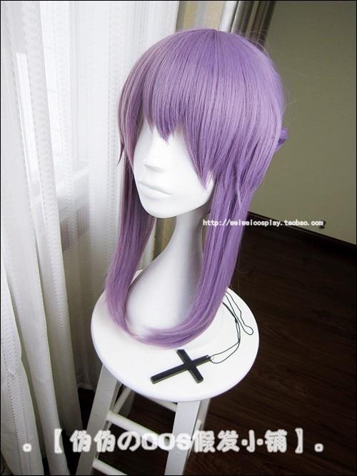 Owari no Seraph Of The End Shinoa Hiragi Purple Hair Heat Resistant Cosplay Costume Wig 4
