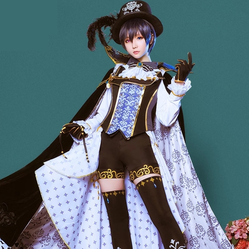 Anime Kuroshitsuji Black Butler Cosplay Costumes Ciel Phantomhive Women Men Role Playing Dress Masquerade Party Full dress Shoes 1