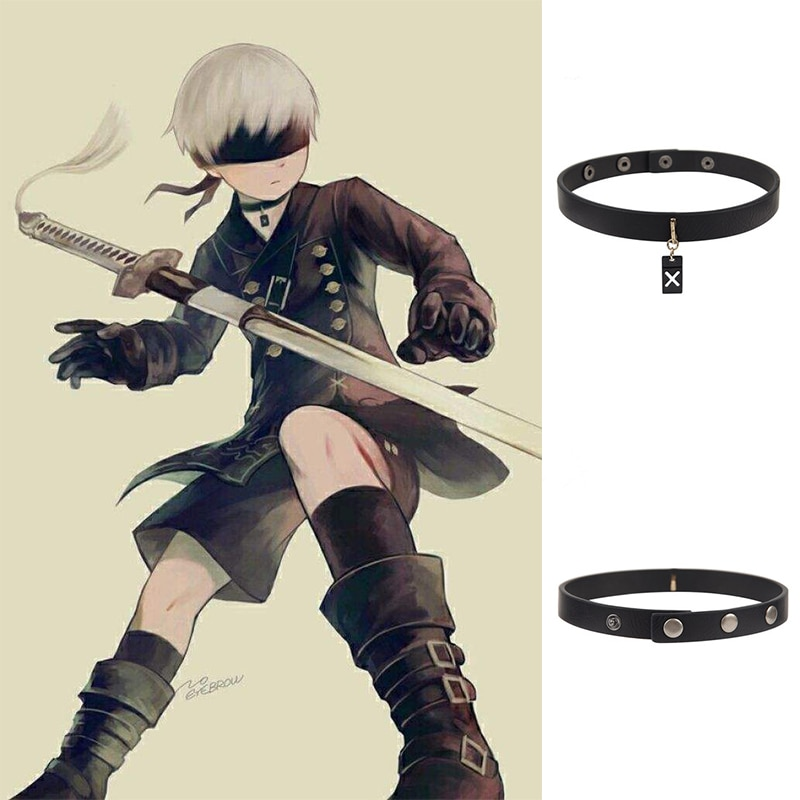 Game NieR Automata 9S Cosplay prop Accessories YoRHa No. 9 Type S necklace Clavicular chain Pendant jewelry 1