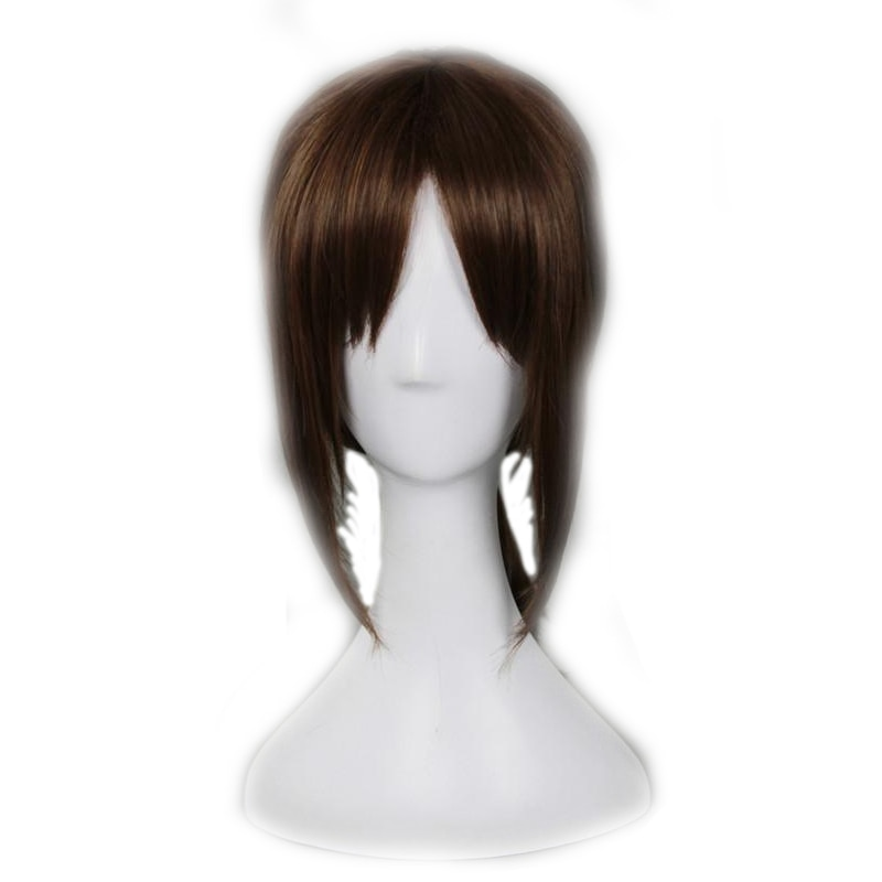 Attack on Titan Ymir Cosplay Wig Aurgelmir Brown Short ponytail Heat Resistant Synthetic Hair Halloween party Play Wigs pelucas 1