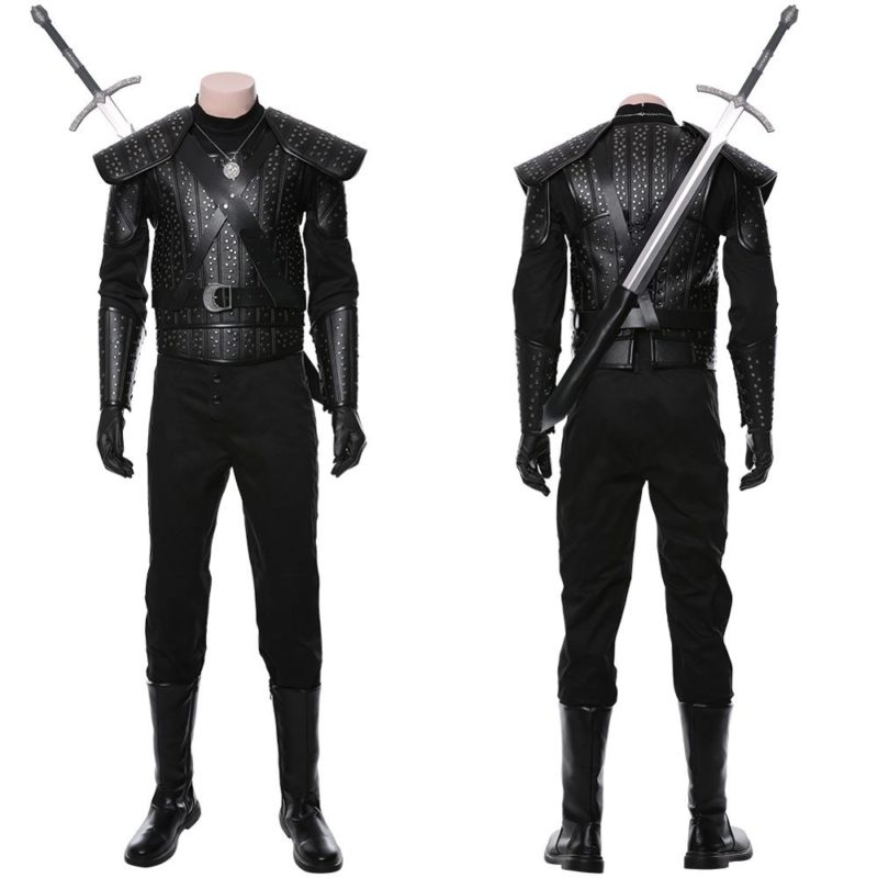 Fast Shipping Anime Geralt Cosplay Witch Costume women autumn winter clothes men coat Halloween Carnival Costume Christmas gift 2