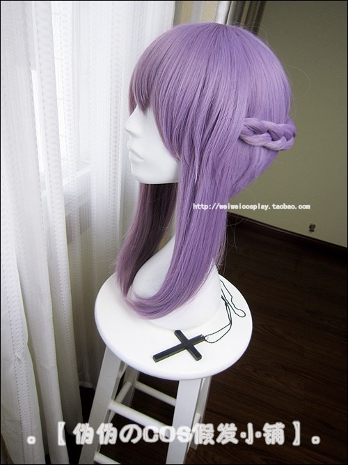 Owari no Seraph Of The End Shinoa Hiragi Purple Hair Heat Resistant Cosplay Costume Wig 3