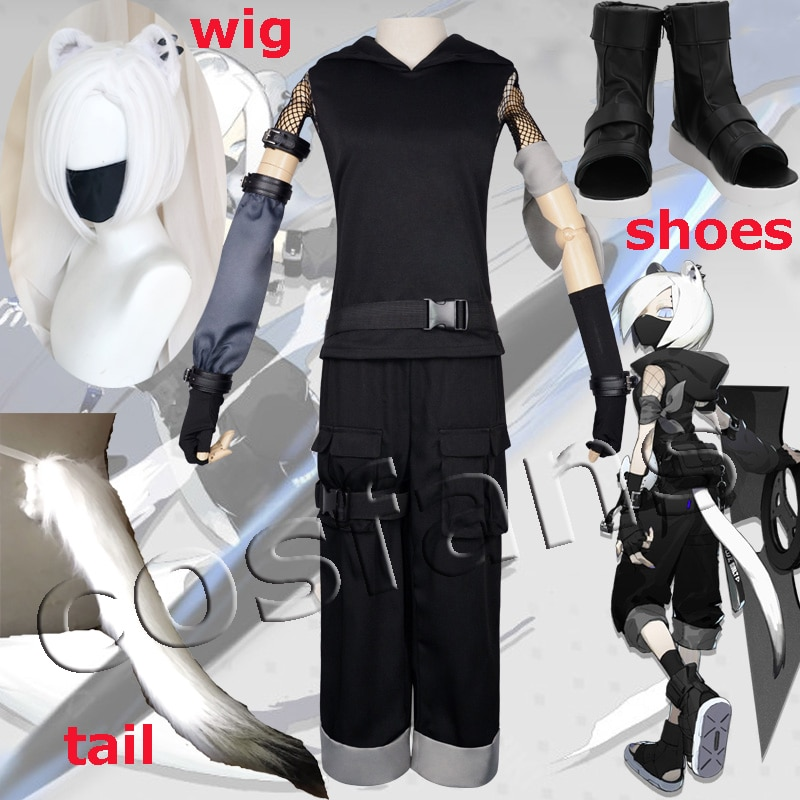 Game Arknights ShiraYuki Cosplay Costume Women Cosplay Outfit Halloween Carnival Party Costumes Full Set ShiraYuki Wig Shoes 1