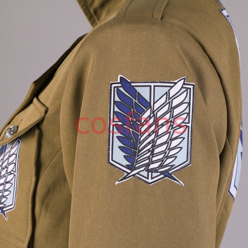 Attack on Titan Season 3 Eren Cosplay Costume Scouting Legion Soldier Officer Uniform Adult Men Halloween Trench Clothing Wigs 5