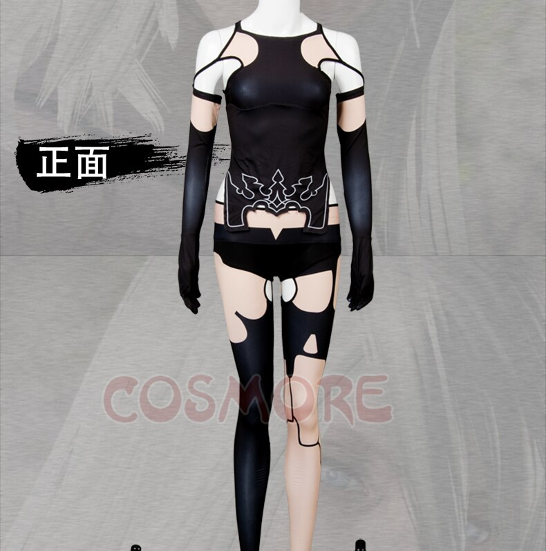 NieR Automata A2 Cosplay Costume Halloween costumes for adult women costume YoRHa Type A No. 2 costume black Suit 3
