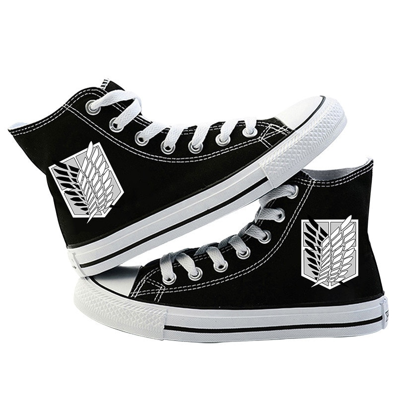 Japanese Anime Attack on Titan Cosplay Casual High Platform Shoes Shingeki No Kyojin Canvas Shoes For Girls Boys Sports Shoes 3