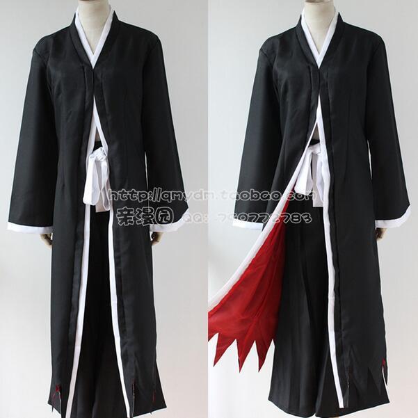 Anime Bleach Cosplay Ichigo Kurosaki Bankai Hollow Mask Wig Men Halloween Cosplay Costume 3