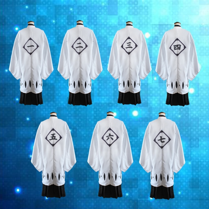 Anime Bleach Cosplay Costumes Captains White Cloak Cosplay Costume Halloween Carnival Party Game Cosplay Costume 1