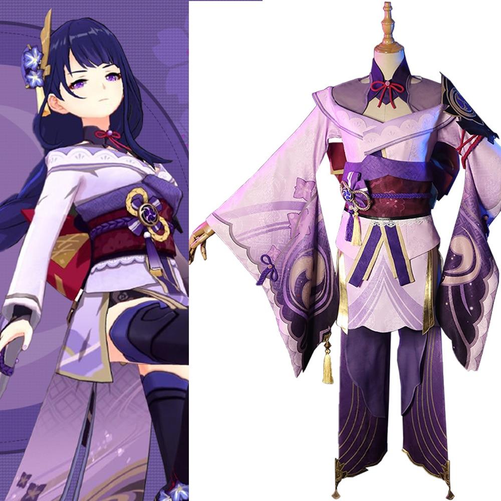 Game Genshin Impact Raiden General Baal Cosplay Costume Female Fashion Uniform Activity Party Role Play Clothing XS-XXL Inazuma 1