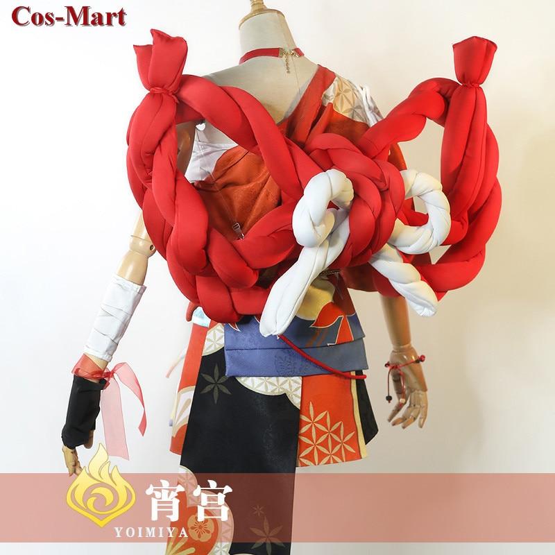 Game Genshin Impact Yoimiya Cosplay Costume Female Fashion Combat Uniform Activity Party Role Play Clothing XS-XXL New Product 3