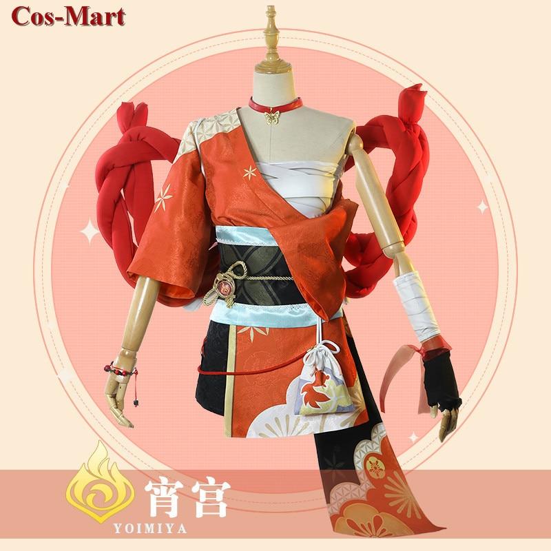 Game Genshin Impact Yoimiya Cosplay Costume Female Fashion Combat Uniform Activity Party Role Play Clothing XS-XXL New Product 1